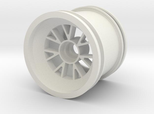 Rain wheel for Ferrari F1 2007 front 1:7  in White Natural Versatile Plastic
