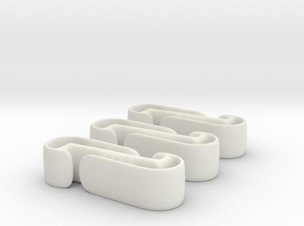 Active Clip (3 pack) in White Natural Versatile Plastic