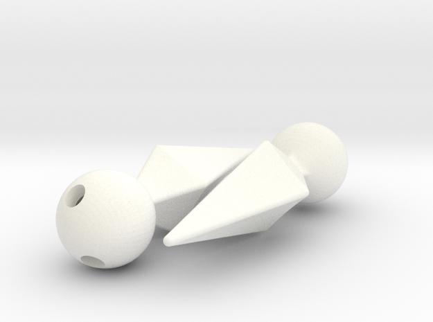 Marik Ishtar Earrings / Ishizu Ishtar Pendants  in White Processed Versatile Plastic