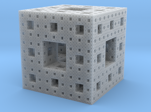 Menger Sponge, 3cm in Frosted Ultra Detail