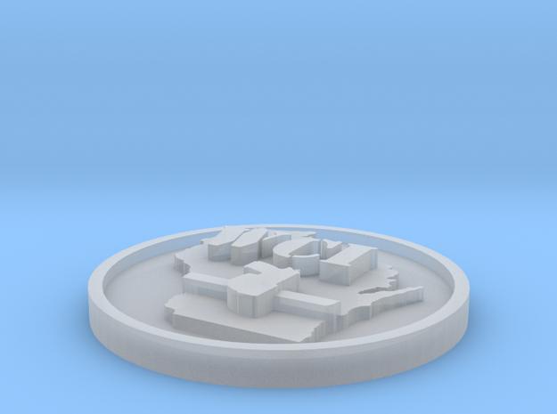 WCI Button for FUD 3d printed