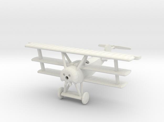 1/144 Fokker Dr.I in White Natural Versatile Plastic