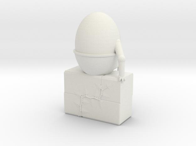 Humpty Dumpty in White Natural Versatile Plastic