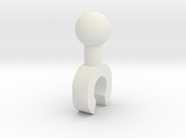 Sunlink - 3mm Clip in White Natural Versatile Plastic