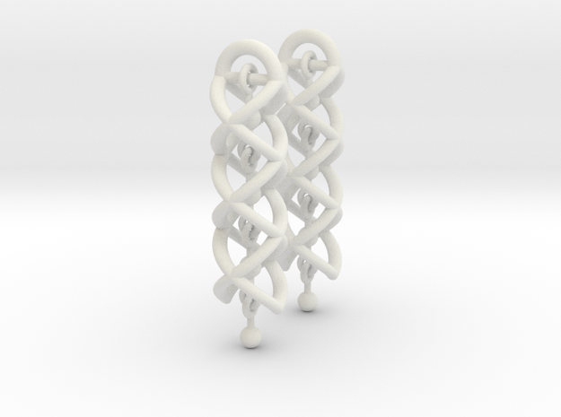 Helix Dangle Earrings V2 3d printed