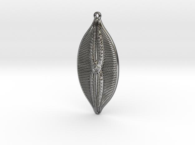 Navicula bulatta earring ~ 35mm 3d printed
