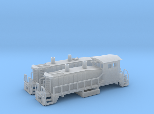 EMD SW1500 Switcher W/no road name 3d printed SW1500 Cow and Calf Z scale