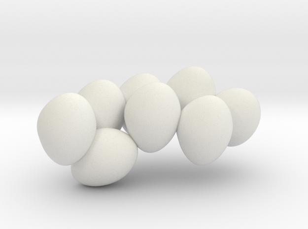 HYLONOMUS 7cm 2/2 (only eggs) in White Natural Versatile Plastic