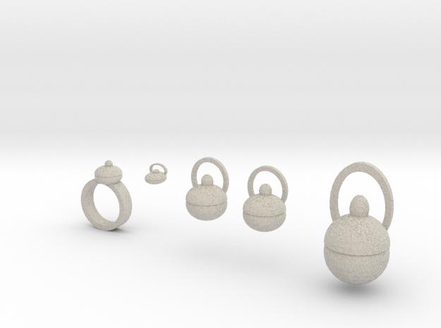 Plum Pudding Jewelry Set 3d printed
