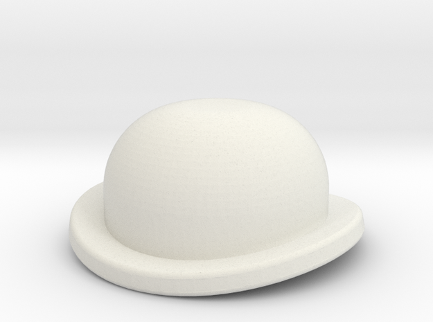 Bowler3a in White Natural Versatile Plastic