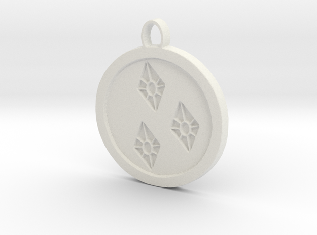 Rarity cutie mark pendant my little pony in White Natural Versatile Plastic
