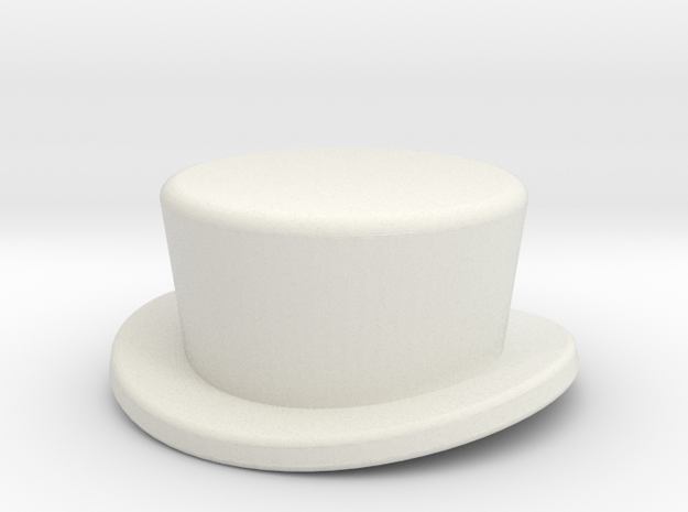CoachHat2 in White Natural Versatile Plastic