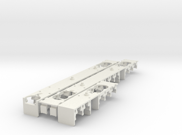 Plan U interieur N scale (1:160) in White Natural Versatile Plastic