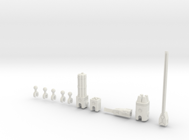 Sunlink - 3mm Weapons Pack #1 in White Natural Versatile Plastic