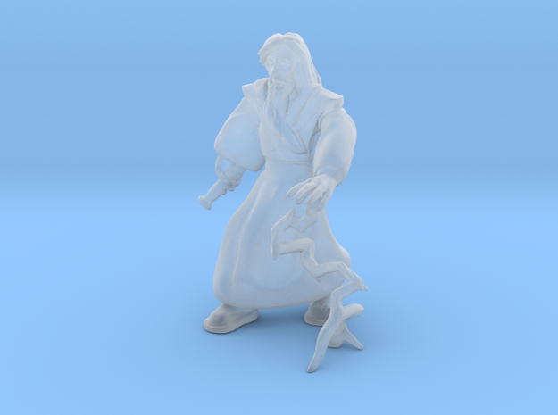 Space Monk with Lightning 3d printed