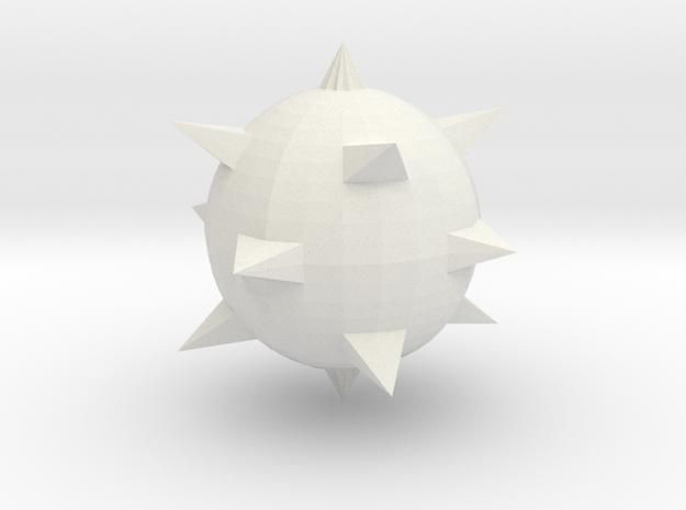 SpikeBall in White Natural Versatile Plastic