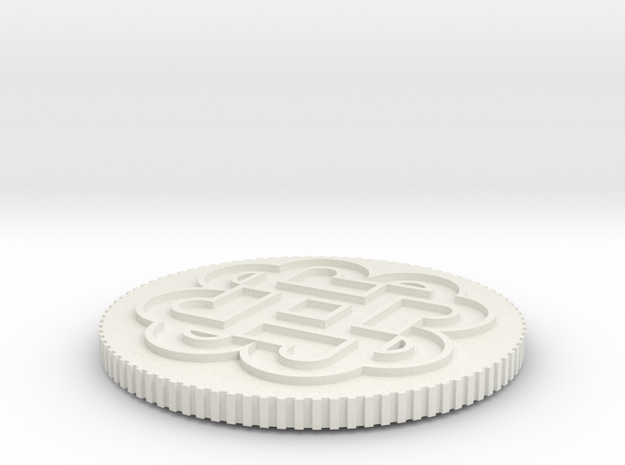 4Bs Coin 3d printed