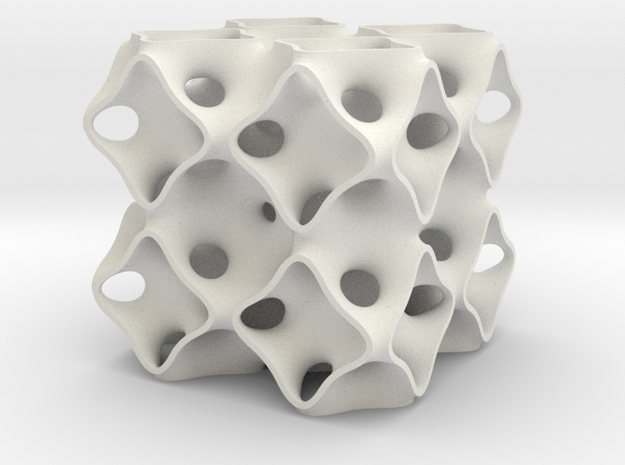 Schoen's OCTO surface 2x2x2 3d printed