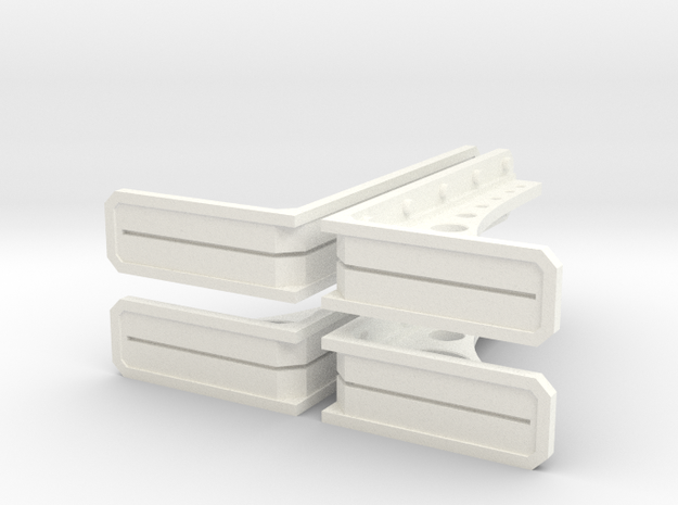 Structural Wall Brace 1 (x4) in White Processed Versatile Plastic