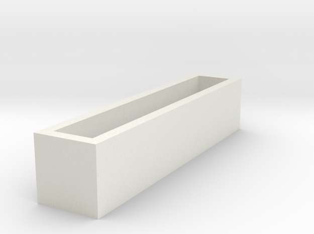 RectanglePendent_LOVE in White Natural Versatile Plastic