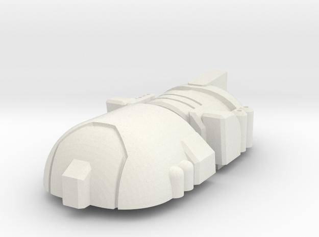 Leadfoot Head for Classics Mirage body in White Natural Versatile Plastic