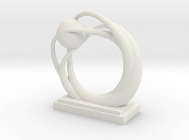 Ring Statue in White Strong & Flexible
