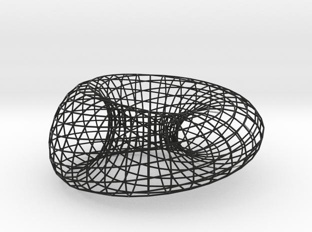 """Moebius + Ellipse 2.5""""/7.5"""" in Black Natural Versatile Plastic"""