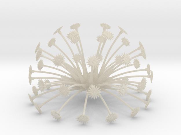 Flowerhead 8 - sparse in White Acrylic