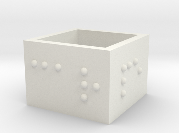 SquareRing_CarpeDiem_17mmx15mm in White Natural Versatile Plastic