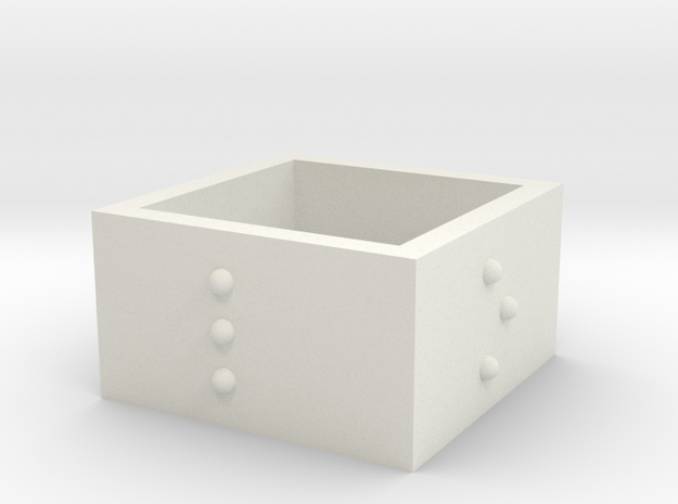 squareRing_LOVE_17-75mmx12mm in White Natural Versatile Plastic