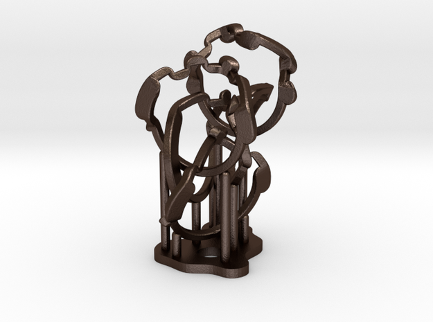 Weave Five in metal 3d printed