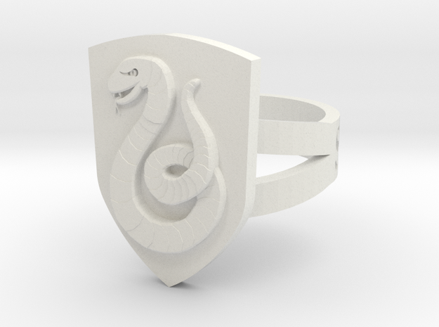 Slytherin Ring Size 5 3d printed