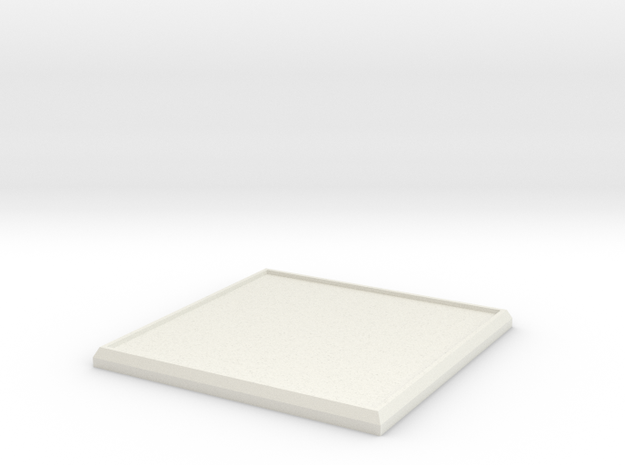 Square Model Base 50mm in White Natural Versatile Plastic