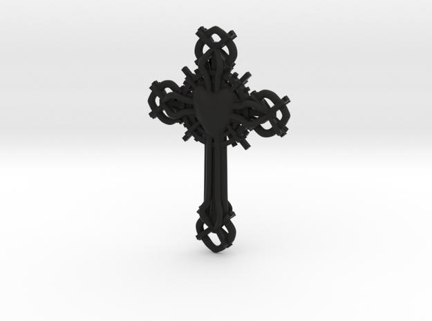 Baroque Cross 3d printed