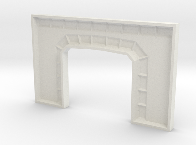 Z TUNNEL PORTAL MOLD in White Natural Versatile Plastic