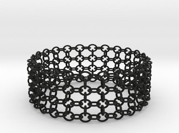 3in Shogun Bracelet in Black Strong & Flexible