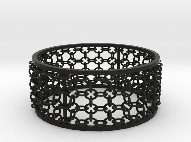 3in Emperor Bracelet in Black Strong & Flexible