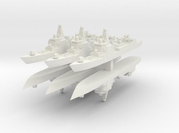 PLAN 052 1:6000 x6 in White Natural Versatile Plastic