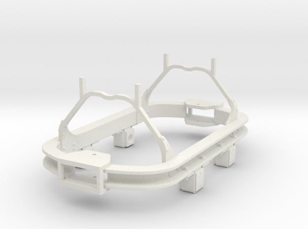 1/35 or 1/32 scale skip underframe ( Kadee coupler in White Natural Versatile Plastic