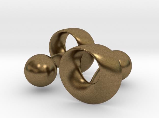Möbius Cufflinks 3d printed