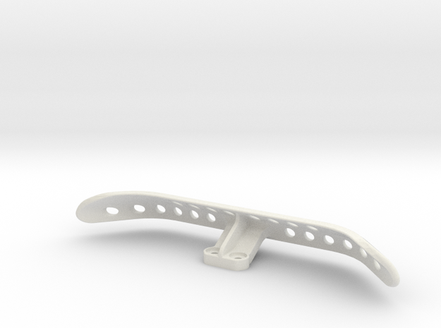 F1 Rear Practice Bumper in White Natural Versatile Plastic