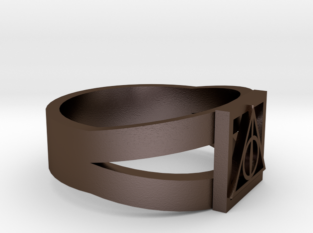 Deathly Hallows Ring Size 11 3d printed