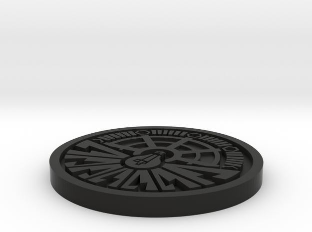 City of Ember Coin 1mm deep engraving 3d printed