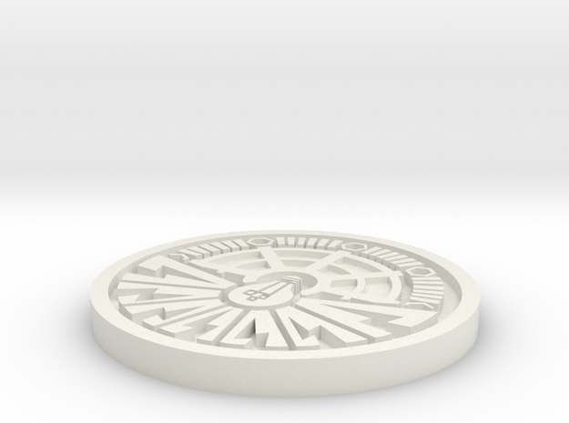 City of Ember Coin 1mm deep engraving in White Strong & Flexible