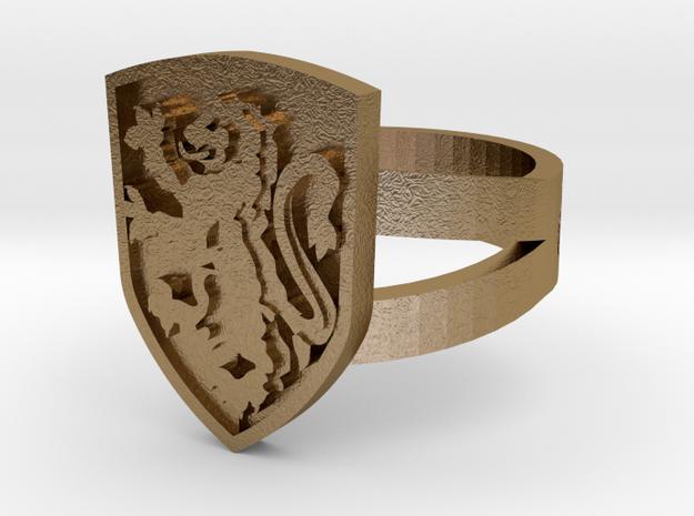 Gryffindor Crest Ring 3d printed