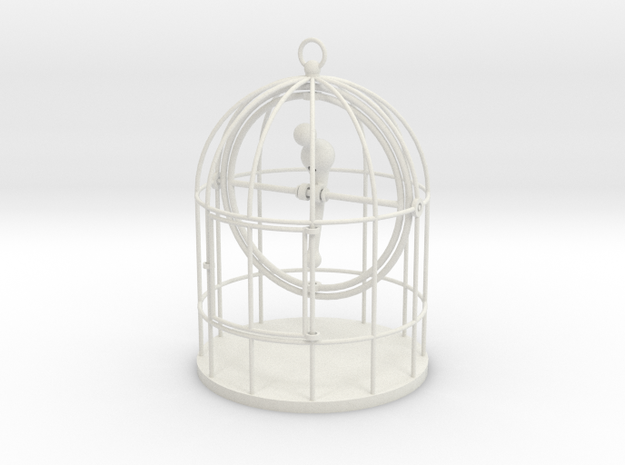 Bird Cage Gimbal in White Natural Versatile Plastic