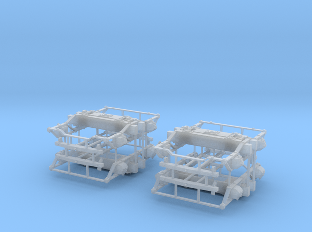 "On3 DSP&P Type ""A""/Litchfield Trucks, 2 pair in Smooth Fine Detail Plastic"