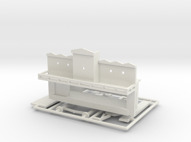 "Spiel - game ""Steamboat""-Derby 1:220 (z scale) in White Natural Versatile Plastic"