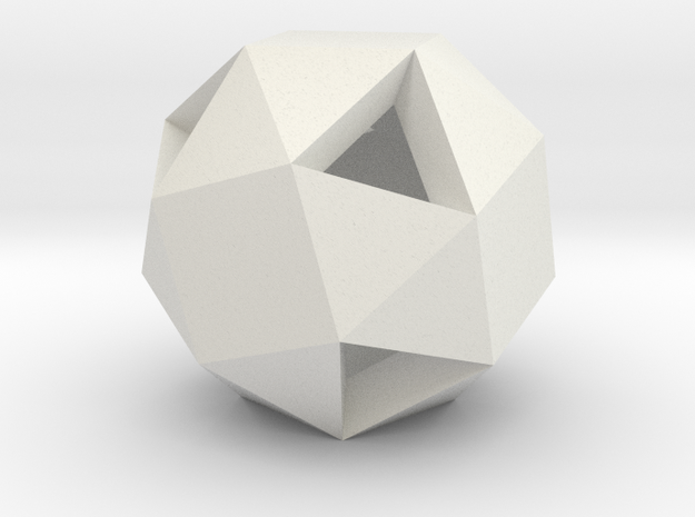 Snub Cube in White Strong & Flexible