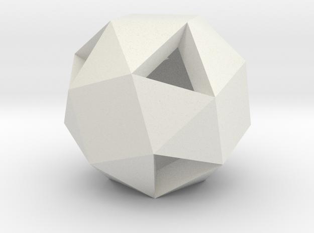 Snub Cube in White Natural Versatile Plastic